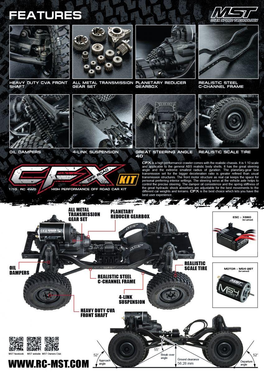 MST / 532169 / CFX 1/10 4WD Off-Road KIT / Body: J3 (Suzuki